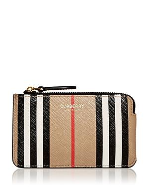 Burberry Kelbrook Icon Stripe Leather Zip Pouch