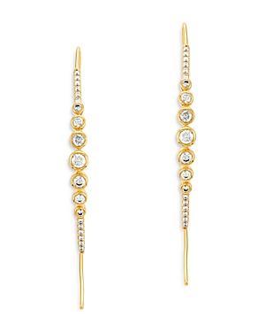Bloomingdale's Diamond Bezel Threader Earrings In 14k Yellow Gold, 0.5 Ct. T.w. - 100% Exclusive