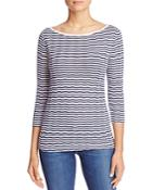 Three Dots British Chevron Stripe Tee - Bloomingdale's Exclusive