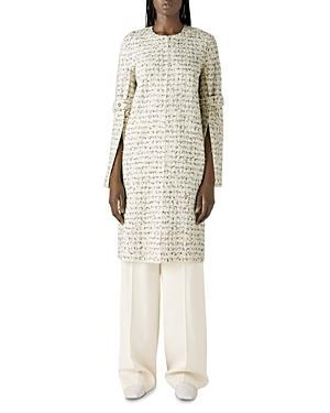 St. John Slit Sleeve Textured Knit Coat