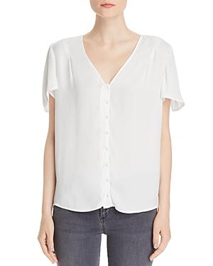 Paige Kelly Flutter-sleeve Button-front Top