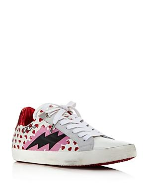 Zadig & Voltaire Women's Hearts Leather Lace-up Sneakers