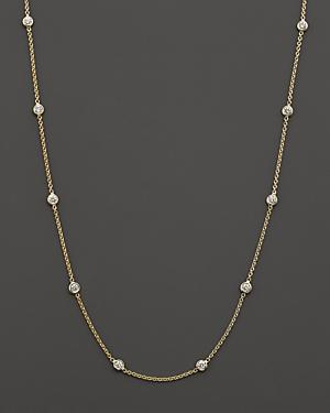 Roberto Coin 18k Yellow Gold Diamonds By The Inch Necklace, 18