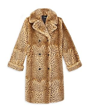 The Kooples Leopard Print Faux Fur Coat