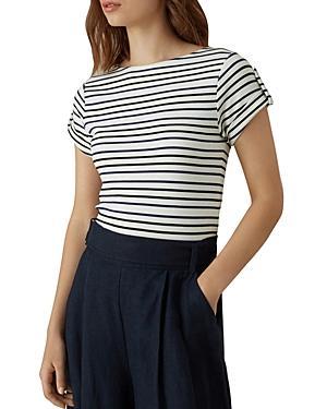Karen Millen Striped Snap Tee