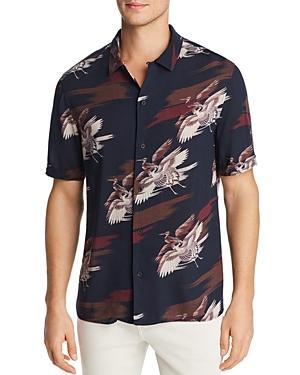 Paige Landon Short-sleeve Bird-print Slim Fit Shirt