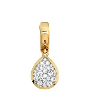 Marina B 18k Yellow Gold Trisolina Pendant With Pave Diamonds