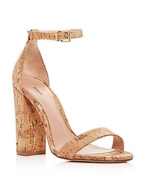 Schutz Women's Enida Cork Block Heel Ankle Strap Sandals