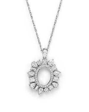 Diamond Pendant Necklace In 14k White Gold, 2.40 Ct. T.w.