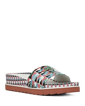 Women's Cava Printed Leather Wedge Slide Sandals