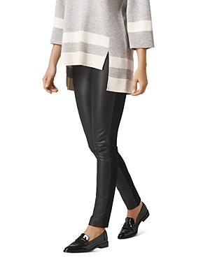 L.k.bennett Agi Faux-leather Contrast Slim Pants