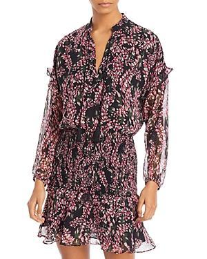 Aqua Floral Smocked Mini Dress - 100% Exclusive