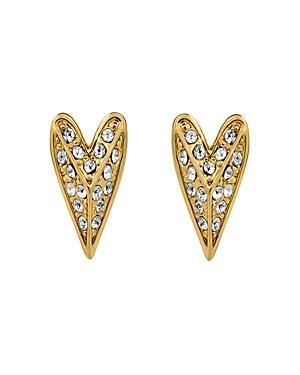 Karl Lagerfeld Paris Pyramid Heart Earrings