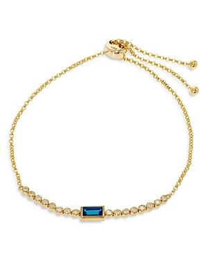 Bloomingdale's Blue Topaz & Diamond Bolo Bracelet In 14k Yellow Gold - 100% Exclusive