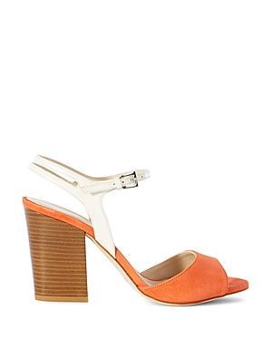 Karen Millen Suede Color Block High Heel Sandals