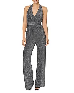 Laundry By Shelli Segal Shimmering Halter Jumpsuit