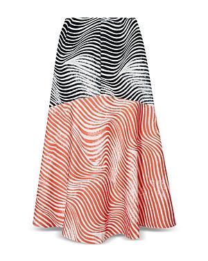 Ted Baker Canddra Contrast Panel Midi Skirt