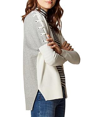 Karen Millen Color-block Lace-up Cardigan