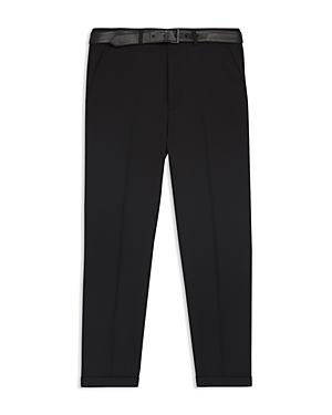 The Kooples Wool Slim Fit Trousers With Belt