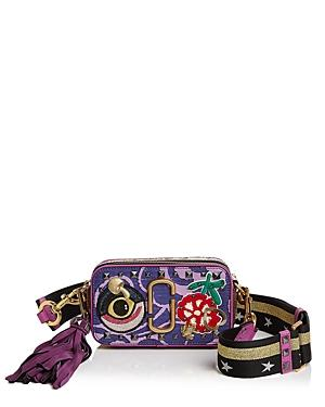 Marc Jacobs Snapshot Tapestry Saffiano Leather Camera Bag