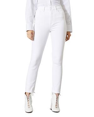 Grlfrnd Karolina Super High Rise Skinny Jeans In White Sky