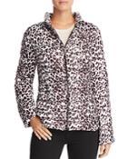 Aqua Packable Leopard Print Puffer Coat - 100% Exclusive