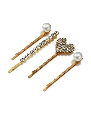 Aqua Embellished Bobby Pins, Set Of 4 - 100% Exclusive