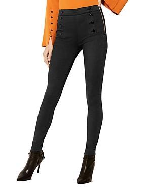 Karen Millen High-waisted Button-detail Skinny Jeans