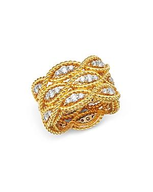 Roberto Coin 18k Yellow & White Gold Barocco Collection Diamond Ring