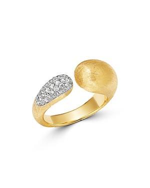 Marco Bicego 18k Yellow Gold & 18k White Gold Legami Diamond Open Link Ring