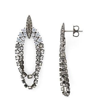 Nadri Gladys Layered Oval Drop Earrings