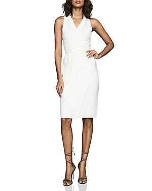Reiss Macy Belted Faux Wrap Dress