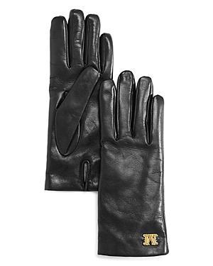 Max Mara Logo-hardware Leather Gloves