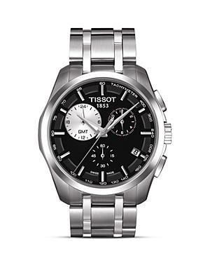 Tissot Couturier Men's Black Quartz Watch, 41mm