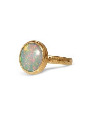 Gurhan 24k/22k Yellow Gold Opal Stacking Ring