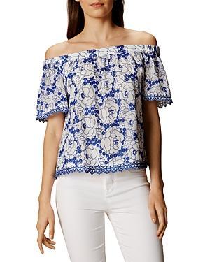 Karen Millen Lace Off-the-shoulder Top