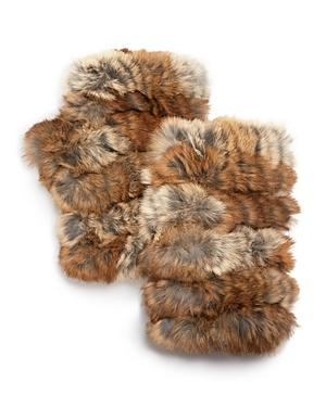 Jocelyn Rabbit Fur Fingerless Mittens