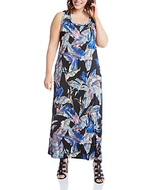 Karen Kane Plus Botanical Print Maxi Dress