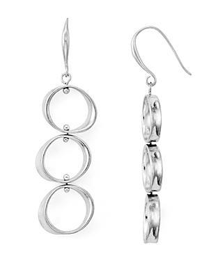 Robert Lee Morris Soho Linear Circle Drop Earrings