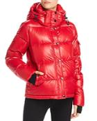 Aqua Glossy Hooded Puffer Coat - 100% Exclusive