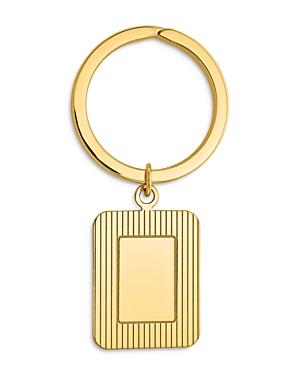 Bloomingdale's Textured Rectangle Key Ring In 14k Yellow Gold - 100% Exclusive