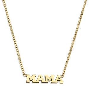 Zoe Chicco 14k Yellow Gold Itty Bitty Mama Necklace, 16