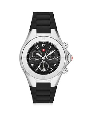 Michele Jellybean Stainless Black Chronograph, 38mm (39% Off) Comparable Value $445