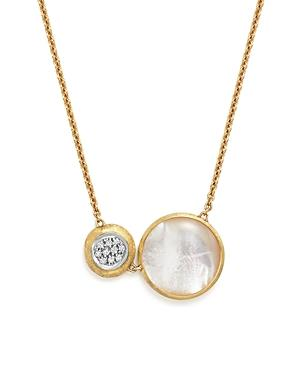 Marco Bicego 18k White And Yellow Gold Jaipur Pendant Necklace With Mother-of-pearl And Diamonds, 16 - 100% Bloomingdale's Exclusive