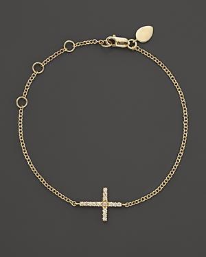 Meira T 14k Yellow Gold Cross Bracelet