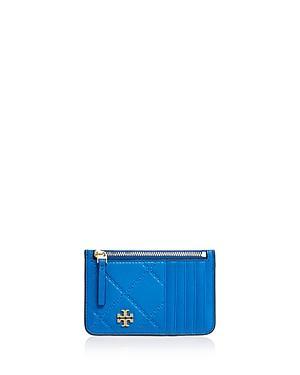 Tory Burch Monroe Top Zip Leather Card Case