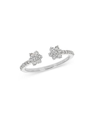 Bloomingdale's Flower Open Ring In 14k White Gold, 0.35 Ct. T.w. - 100% Exclusive