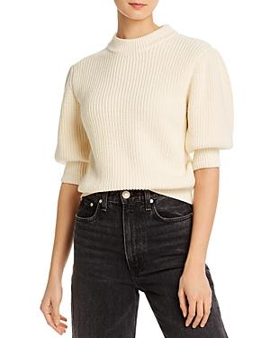 Rebecca Minkoff Olive Elbow Puff-sleeve Sweater
