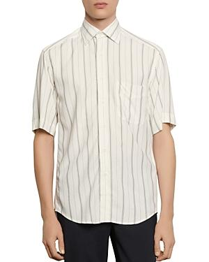 Sandro Slim-fit Oversized Striped Casual Shirt