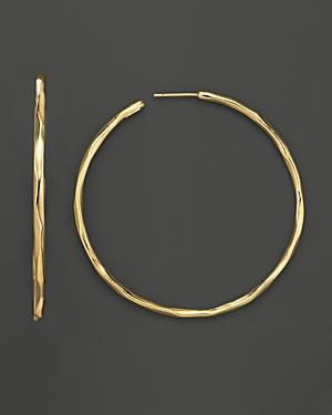 Ippolita 18k Gold #4 Glamazon Faceted Hoops